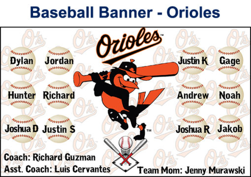 Custom Baseball Banner from AV Graphix | 661-339-2719