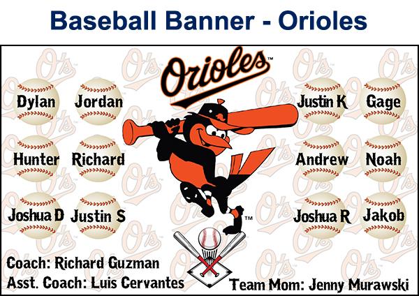 Custom Baseball Banner from AV Graphix | 661-339-2719