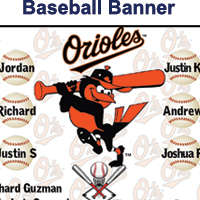 Custom Baseball Banners from AV Graphix | 661-339-2719