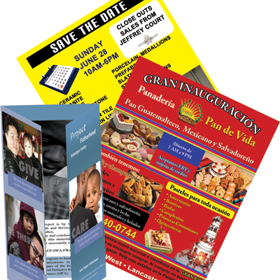 Custom Flyers and Brochures printed by AV Graphix