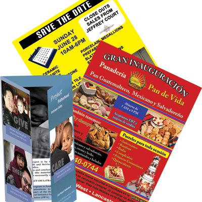 Custom Flyers and Brochures printed by AV Graphix