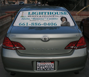 Perforated Window Graphic for Vehicles