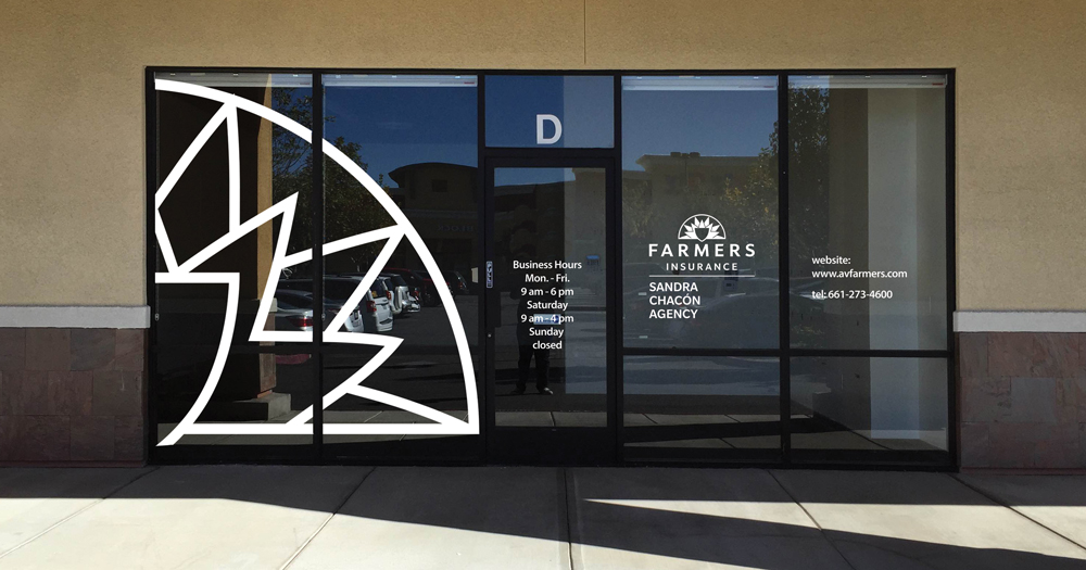 Farmers insurance west palmdale window sign proof av for Window design group reviews