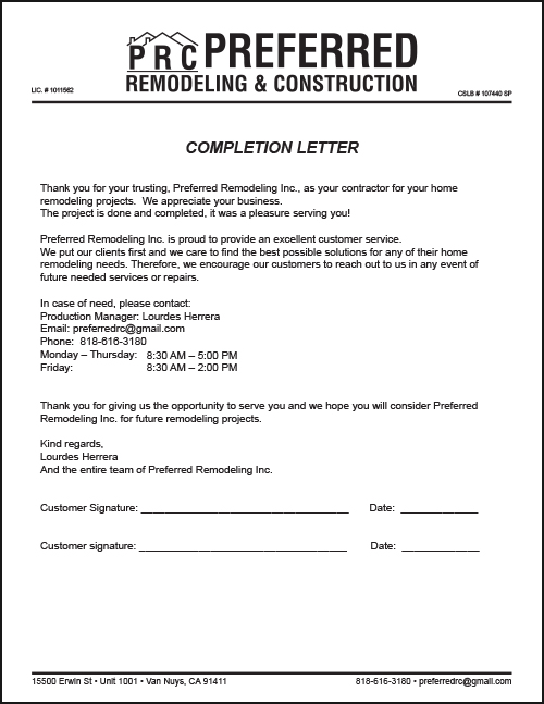 Preferred remodeling construction forms proof av graphix web completion letter form thecheapjerseys Images